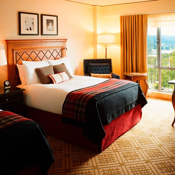 Fairmont hotel Mont Tremblant room 1
